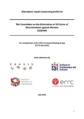 Alternative Report concerning Serbia to CEDAW